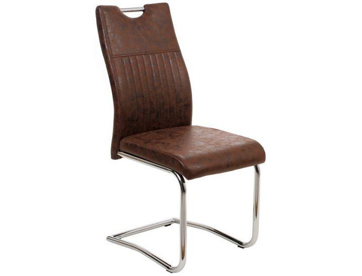 Дизайнерский мягкий стул S-114 коричневый