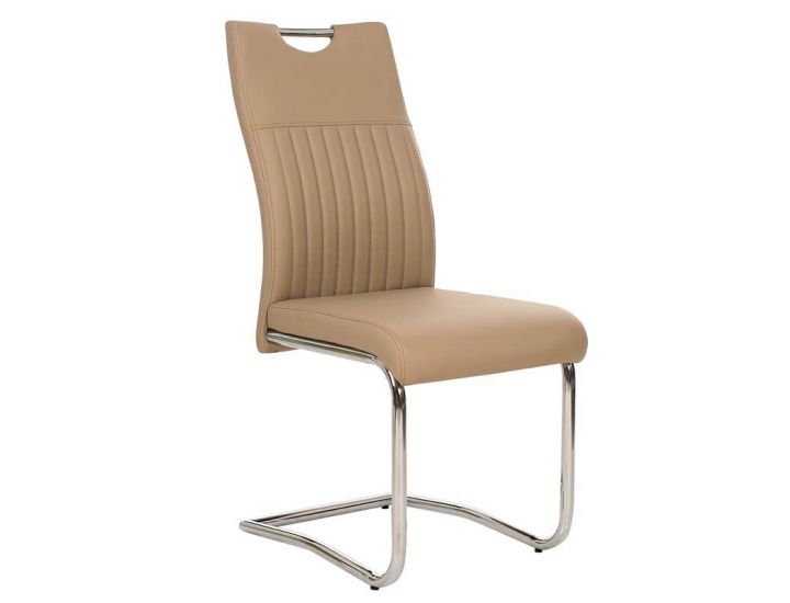 Дизайнерский мягкий стул S-114 бежевый