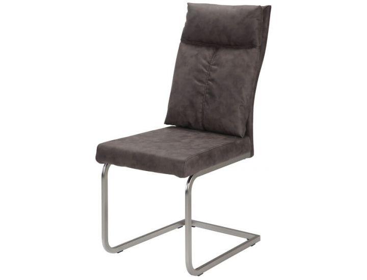 Дизайнерский мягкий стул S-115 серый