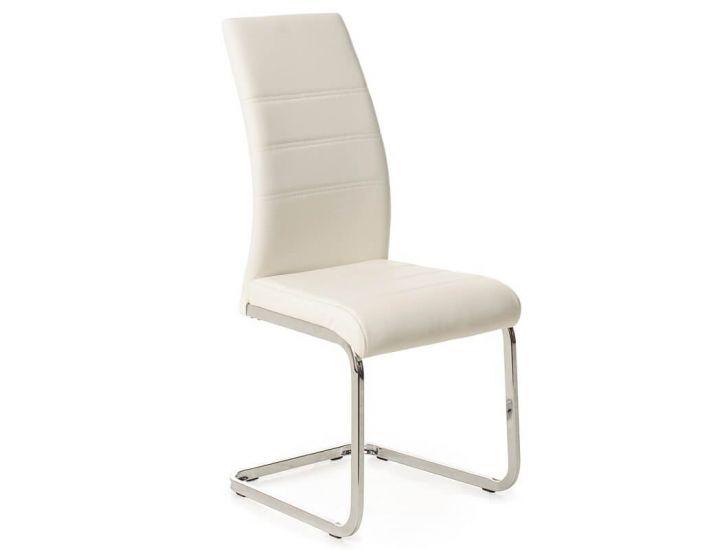 Дизайнерский мягкий стул S-116 белый