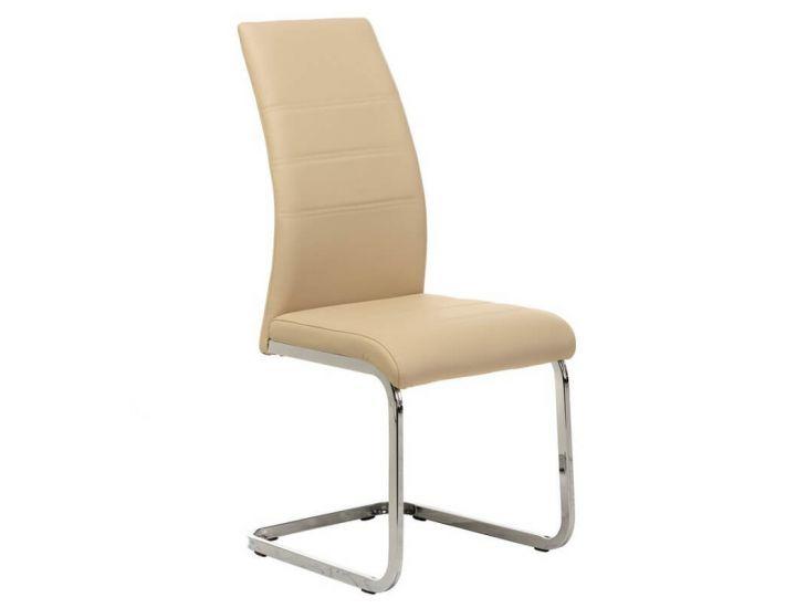 Дизайнерский мягкий стул S-116 молочный