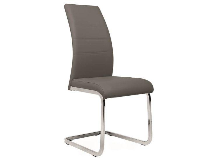 Дизайнерский мягкий стул S-116 серый