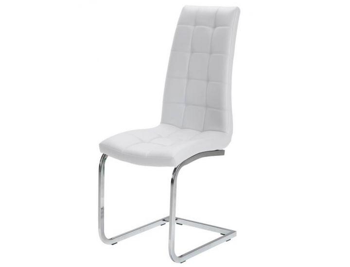 Дизайнерский мягкий стул S-117 белый