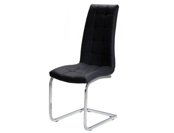 Дизайнерский мягкий стул S-117 черный