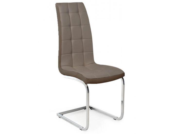 Дизайнерский мягкий стул S-117 капучино-латте