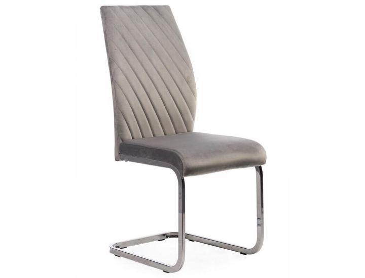 Мягкий стул S-118 серый вельвет
