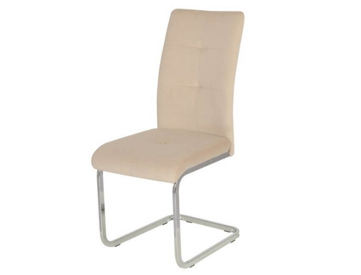 Дизайнерский мягкий стул S-119 матовый капучино вельвет VETRO (Ветро)