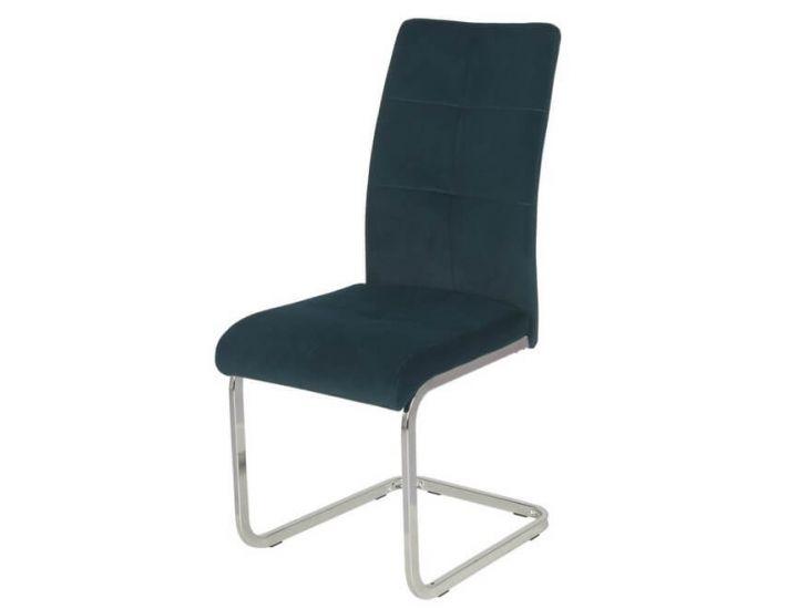 Дизайнерский мягкий стул S-119 матовый лазурный вельвет VETRO (Ветро)