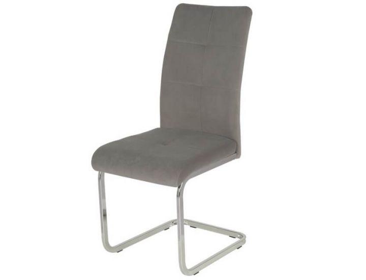 Дизайнерский мягкий стул S-119 матовый серый вельвет VETRO (Ветро)
