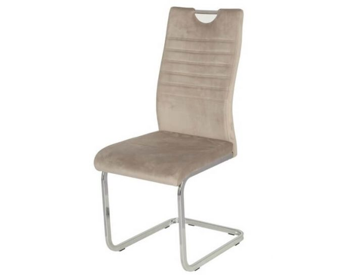 Дизайнерский мягкий стул S-120 капучино вельвет VETRO (Ветро)