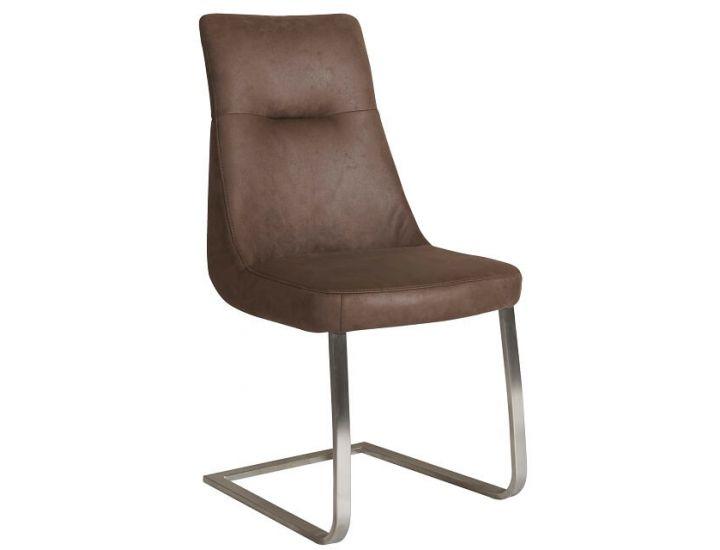 Дизайнерский мягкий стул S-210 темный шоколад