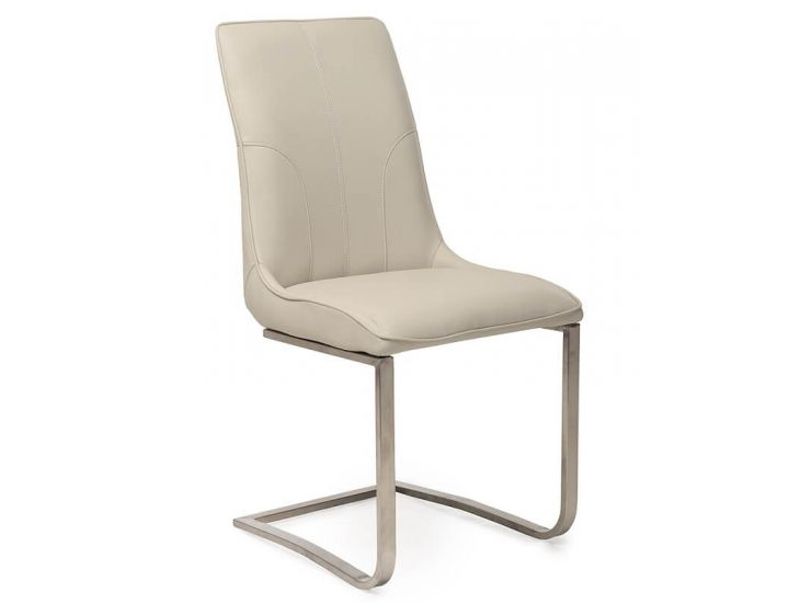 Дизайнерский мягкий стул S-215 молочный