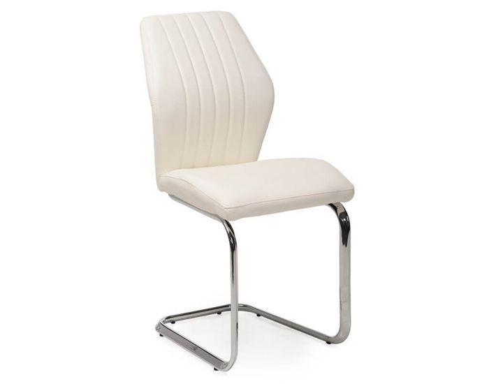 Дизайнерский мягкий стул S-220 белый