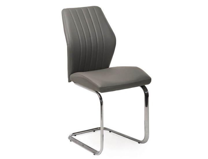 Дизайнерский мягкий стул S-220 серый