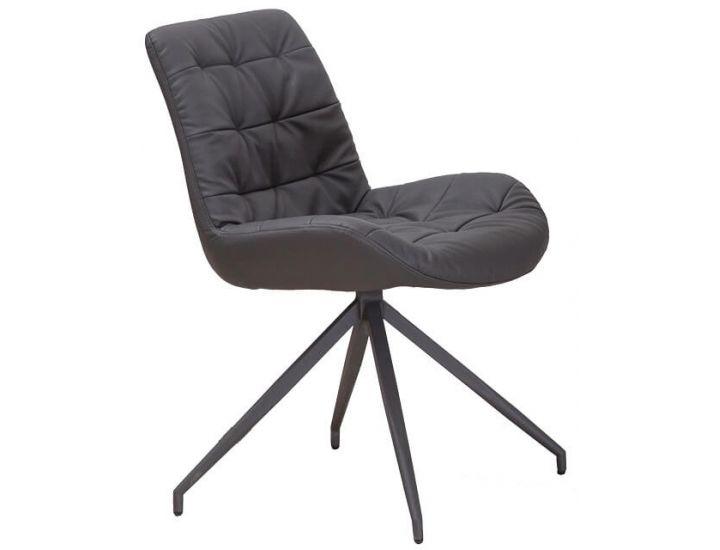 Дизайнерский мягкий стул S-222 серый