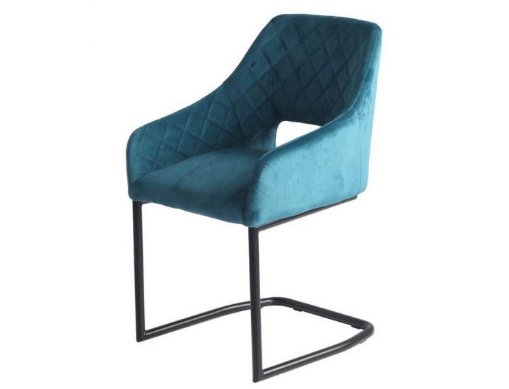 Мягкий стул S-230 лазурный вельвет