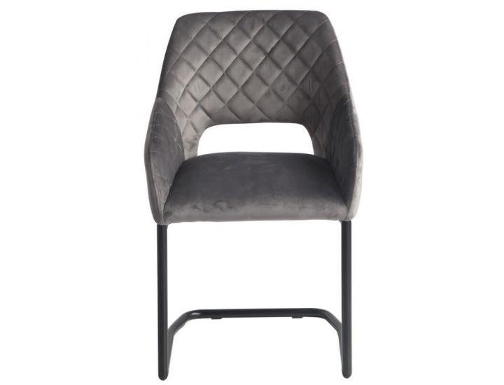Мягкий стул S-230 пепельный вельвет