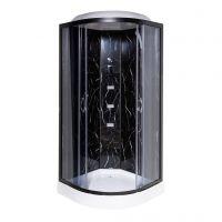 Гидробокс TKF90/1BP Черный оникс BG  90x90x216 мелкий поддон