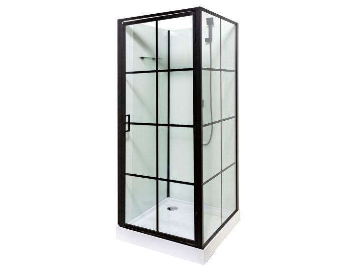 Гидромассажный бокс 9900 90x90x207, квадратный мелкий поддон