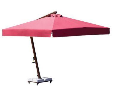 Зонт профессиональный Umbrella House 300x300 см BANANA CLASSIC красный, коричневая рама 2933 OLEFINE 2933 мрамор база (160 кг) WITH FLAPS