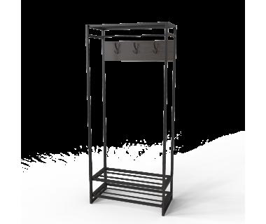 Вешалка Трелис 10 Ferrumon Art In Head черный металл + венге