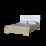 Кровать 1,6 Loretto с деревянным вкладом Art In Head дуб Сонома + белый супермат