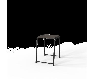 Табурет кухонный Ferrumon Art In Head черный металл + венге