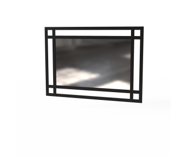 Зеркало Ascet Art In Head черный металлический каркас