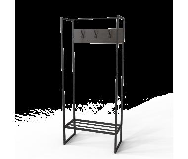 Вешалка Трелис 6 Ferrumon Art In Head черный металл + венге