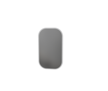 Зеркало 100 Swan Art In Head 600x1000x10 белый супермат (105040115)