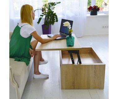 Стол-трансформер Desk Art In Head 910x400x410 дуб Сонома (101011408)