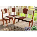 Кухонный уголок Омега (Вегас бежевый+коричневый) Микс-Мебель
