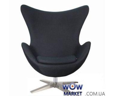 Кресло Egg (Эгг) черный кожзам SDM (Групо СДМ)