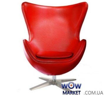 Кресло Egg (Эгг) красный кожзам SDM (Групо СДМ)