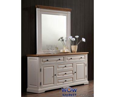 Будуарный стол с зеркалом Калифорния (античный белый) Domini (Домини)