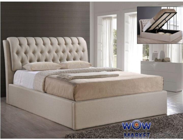 Кровать с подъемным механизмом Кэмерон 160х200см (брокард) Domini (Домини)