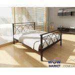 Кровать металлическая Диана с изножьем 200(190)x160см Метакам