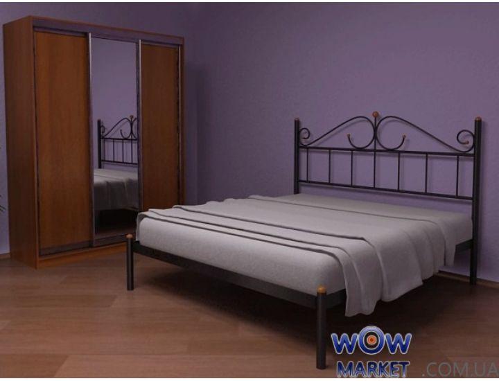 Кровать металлическая двуспальная Розана (Rozana) 200 (190)*180 см Метакам