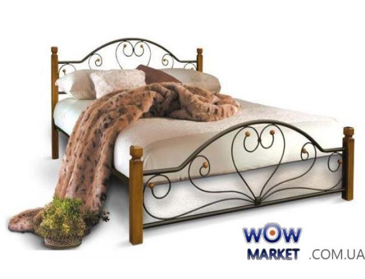 Кровать Джоконда на деревянных ножках 160*200(190)см Металл-Дизайн