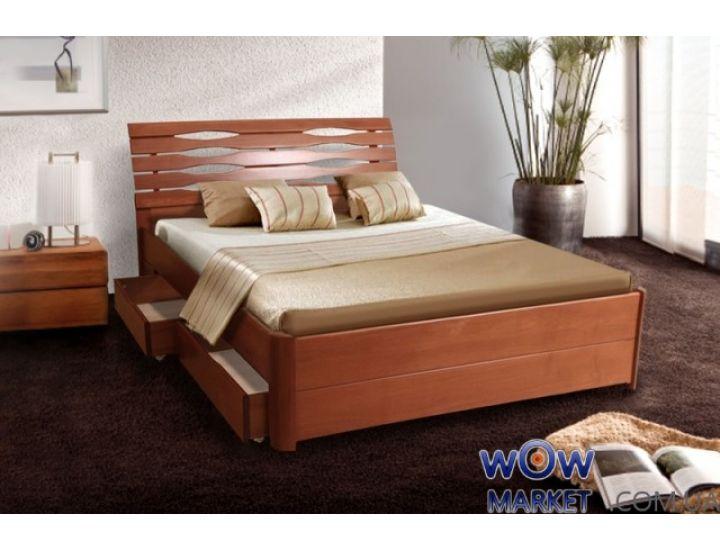 Кровать двуспальная Мария Люкс с ящиками 160х200см Микс-Мебель