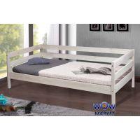 Кровать односпальная Sky-3 (Скай-3) 80х190см беленый дуб Эко модерн Микс Мебель