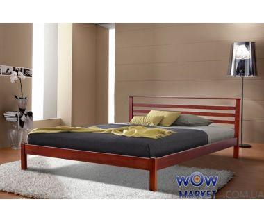 Кровать двуспальная Диана (Ольха) 160х200см яблоня, орех Микс Мебель Уют