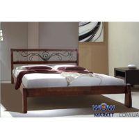 Кровать двуспальная Ретро с ковкой 160х200см (Ольха) Микс Мебель Элегант