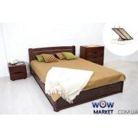 Кровать двуспальная София 160х200см (Бук) с подьемным механизмом Микс Мебель