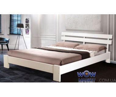 Кровать двуспальная Эмма Уют (Ольха) 160х200см белый, яблоня Микс Мебель