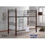 Кровать двухъярусная ДД Лия (DD Liya) 90х190см Onder Metal (Ондер Металл)