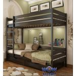 Кровать двухъярусная Дуэт (массив) 200х90см Эстелла