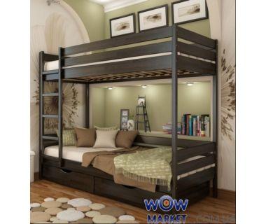 Кровать двухъярусная Дуэт (массив) 200х80см Эстелла