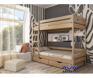 Кровать двухъярусная Дуэт (Щит) 200х90см Эстелла