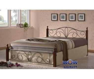 Кровать односпальная AT-9181 140х200см Onder Metal
